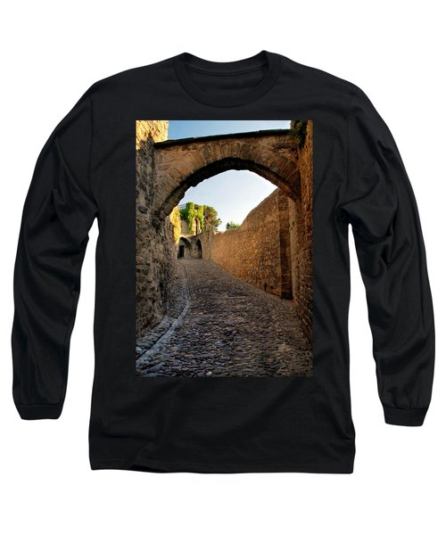 Long Sleeve T-Shirt featuring the photograph Pathway Through Gordes France by Dave Mills