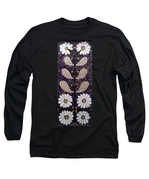 Long Sleeve T-Shirt featuring the painting Patterns Of The Past by Cynthia Amaral