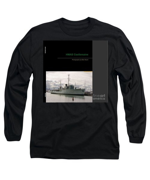 Long Sleeve T-Shirt featuring the mixed media Photobook On Hmas Castlemaine by Blair Stuart