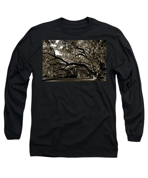 Long Sleeve T-Shirt featuring the photograph Picnic Under The Oak by DigiArt Diaries by Vicky B Fuller