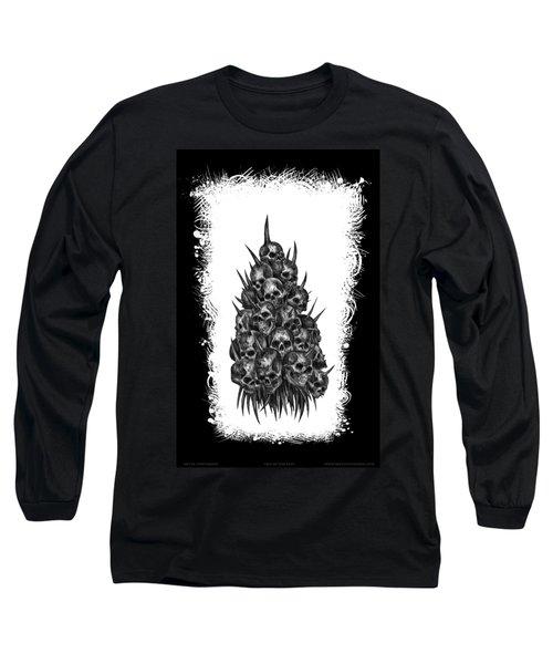 Pile Of Skulls Long Sleeve T-Shirt by Tony Koehl