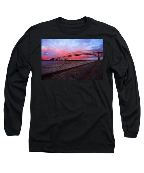 Long Sleeve T-Shirt featuring the photograph Pink And Blue by Gordon Dean II