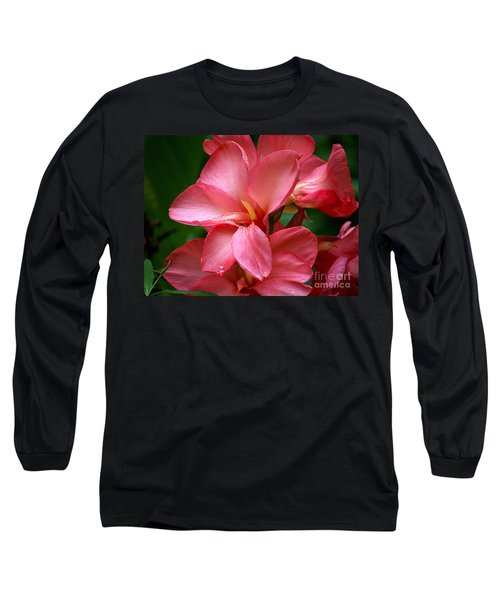 Pink Canna Long Sleeve T-Shirt