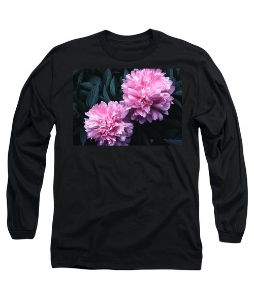 Pink Peony Pair Long Sleeve T-Shirt
