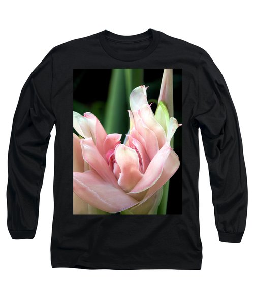 Pink Torch Ginger Long Sleeve T-Shirt by Jocelyn Kahawai