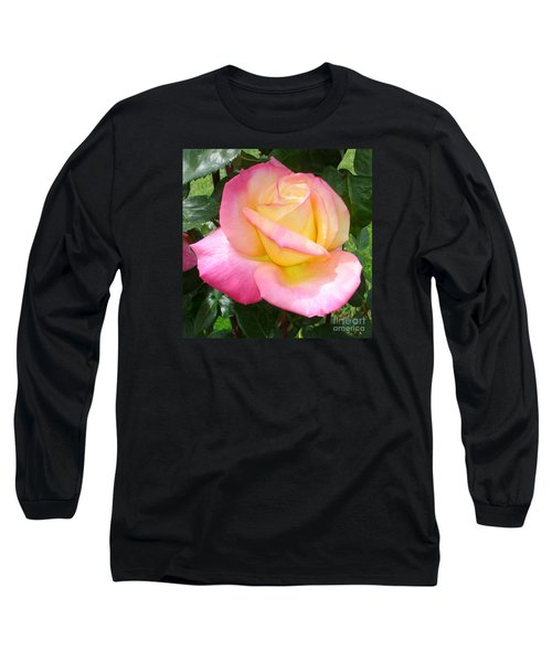 Long Sleeve T-Shirt featuring the photograph Pink Yellow Beauty by Tanya  Searcy