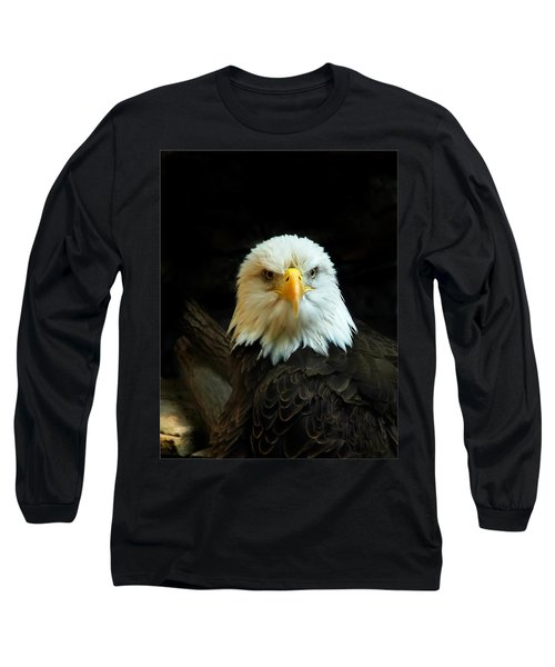 Long Sleeve T-Shirt featuring the photograph Portrait American Bald Eagle by Randall Branham