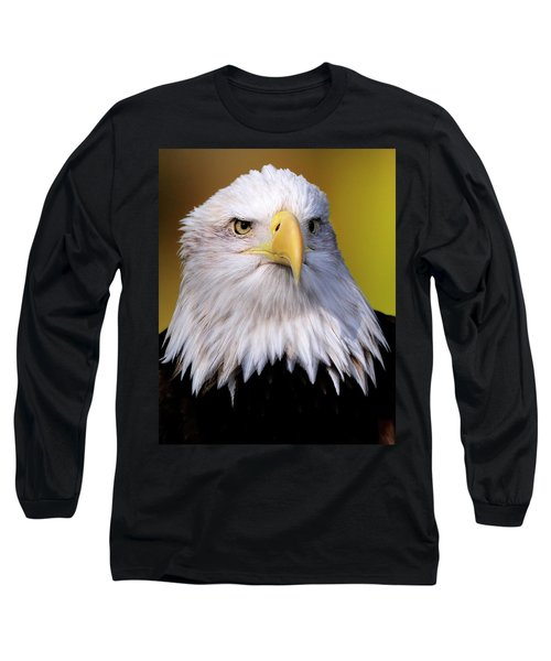 Portrait Of A Bald Eagle Long Sleeve T-Shirt