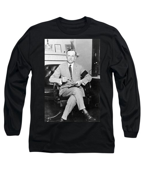 President Calvin Coolidge Long Sleeve T-Shirt by International  Images