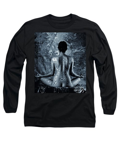 Long Sleeve T-Shirt featuring the photograph Psychedelic Om by Angelique Olin