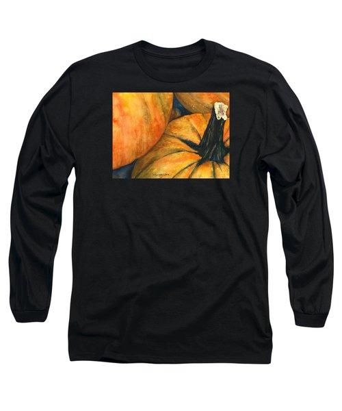 Punkin Long Sleeve T-Shirt by Casey Rasmussen White