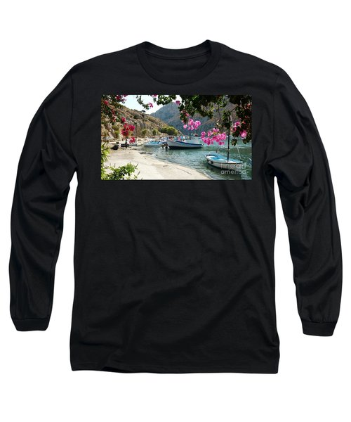 Long Sleeve T-Shirt featuring the photograph Quiet Cove by Therese Alcorn