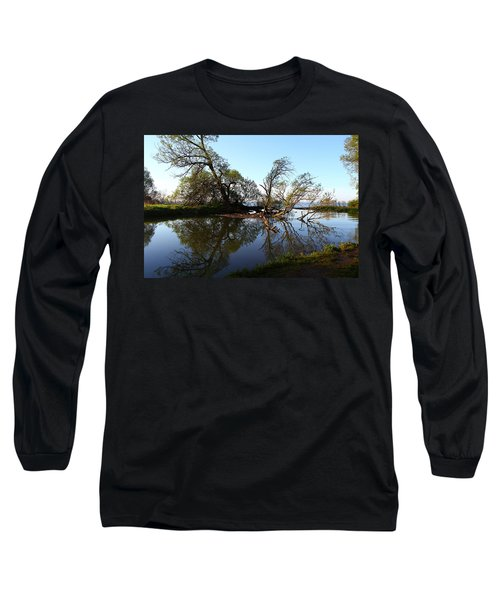Quiet Reflection Long Sleeve T-Shirt by Davandra Cribbie