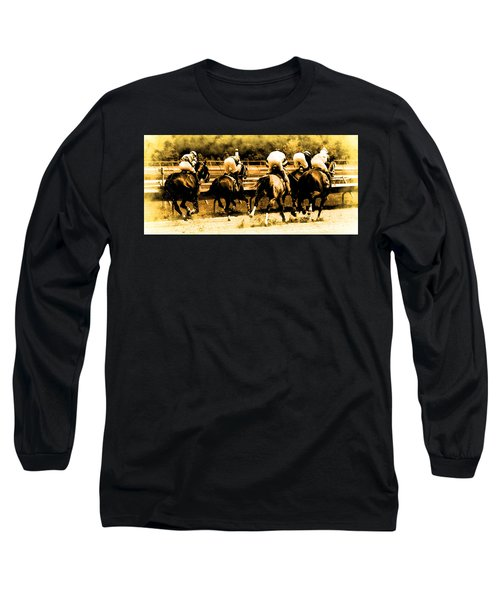 Long Sleeve T-Shirt featuring the photograph Race To The Finish Line by Alice Gipson