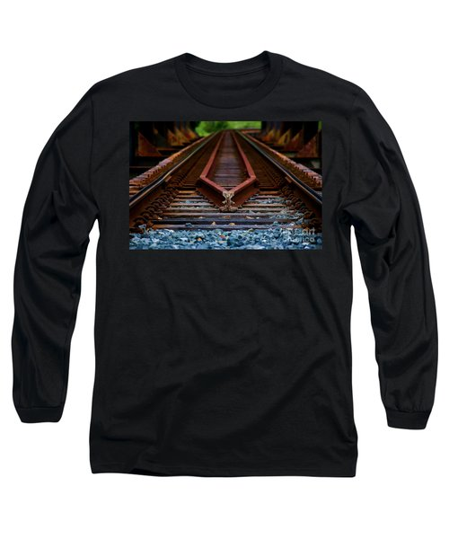 Railway Track Leading To Where Long Sleeve T-Shirt