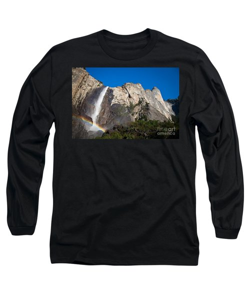 Rainbow On Bridalveil Fall Long Sleeve T-Shirt