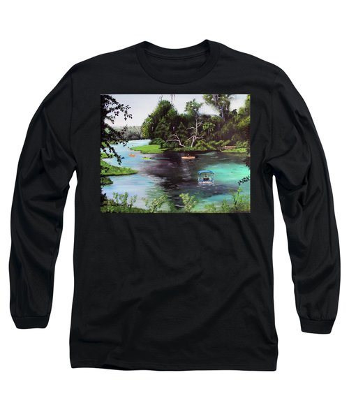 Rainbow Springs In Florida Long Sleeve T-Shirt by Luis F Rodriguez
