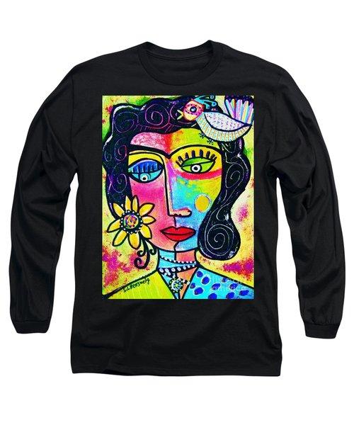 Rainbow Sunshine Frida Long Sleeve T-Shirt