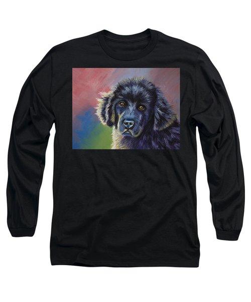 Rainbows And Sunshine - Newfoundland Puppy Long Sleeve T-Shirt