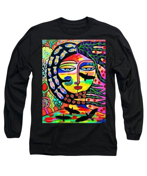 Raven Goddess Long Sleeve T-Shirt