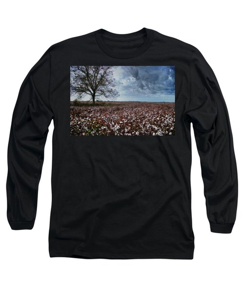 Red Cotton And The Tree Long Sleeve T-Shirt