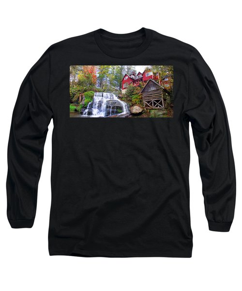 Red House By The Waterfall 2 Long Sleeve T-Shirt