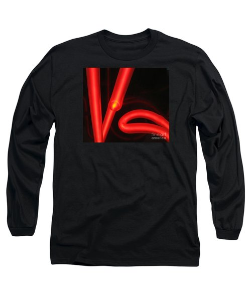 Long Sleeve T-Shirt featuring the photograph Red Neon by John King
