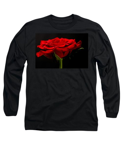 Long Sleeve T-Shirt featuring the photograph Red Rose by Steve Purnell