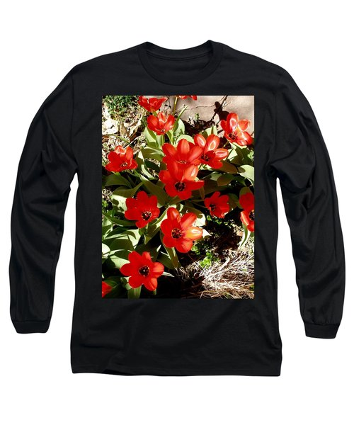 Long Sleeve T-Shirt featuring the photograph Red Tulips by David Pantuso