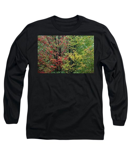 Red Yellow And Green Leaves Long Sleeve T-Shirt