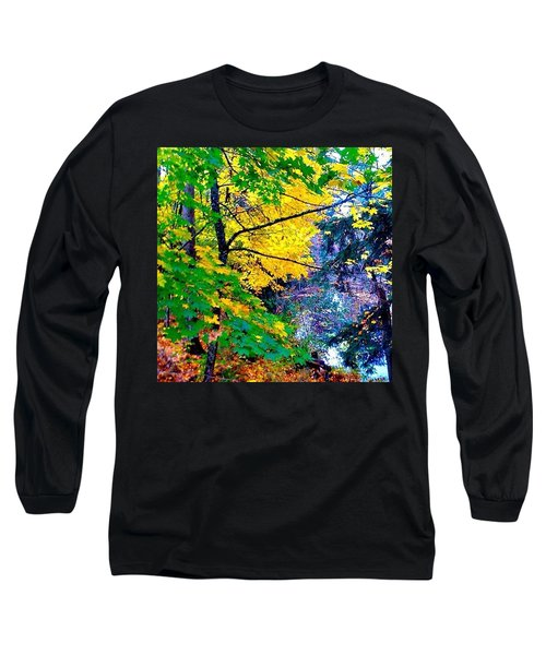 Reed College Canyon Fall Leaves II Long Sleeve T-Shirt by Anna Porter