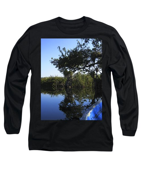 Reflection Of Arched Branches Long Sleeve T-Shirt by Anne Mott