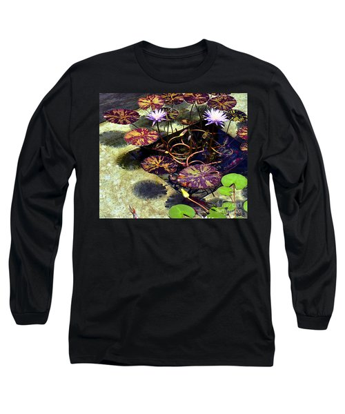 Reflections On Underwater Life Long Sleeve T-Shirt by Clayton Bruster