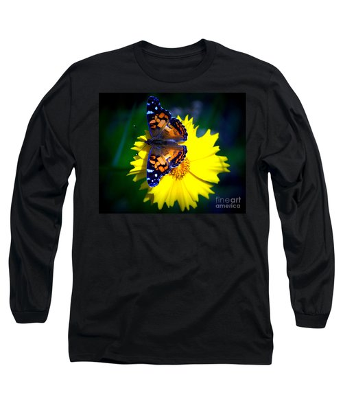 Resting Butterfly Long Sleeve T-Shirt by Kevin Fortier