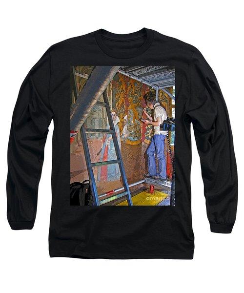 Long Sleeve T-Shirt featuring the photograph Restoring Art by Ann Horn