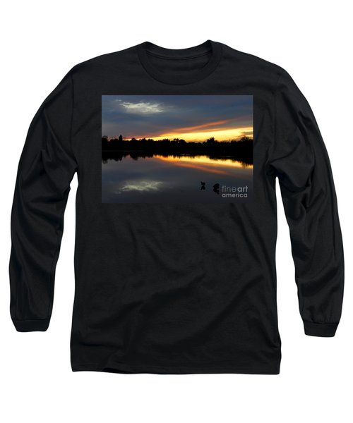 Long Sleeve T-Shirt featuring the photograph Riparian Sunset by Tam Ryan