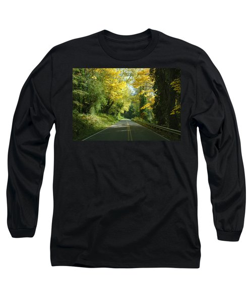 Road Through Autumn Long Sleeve T-Shirt by Kathleen Grace