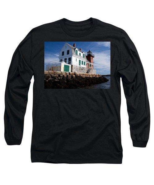 Rockland Breakwater Lighthouse Long Sleeve T-Shirt