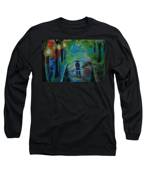 Long Sleeve T-Shirt featuring the painting Romantic Stroll Series II by Leslie Allen