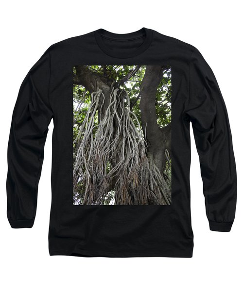 Long Sleeve T-Shirt featuring the photograph Roots From A Large Tree Inside Jallianwala Bagh by Ashish Agarwal