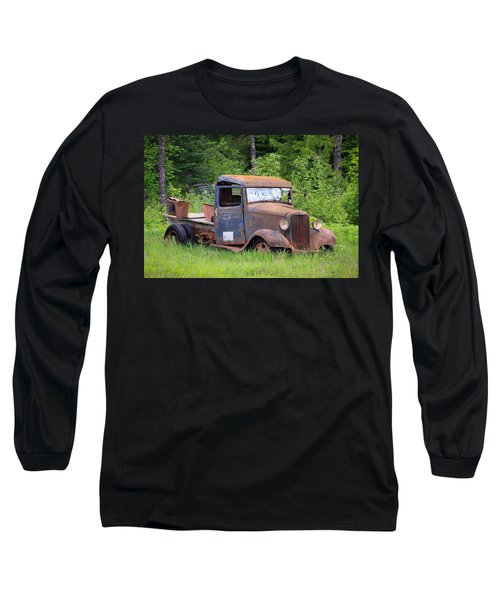 Rusty Chevy Long Sleeve T-Shirt by Steve McKinzie