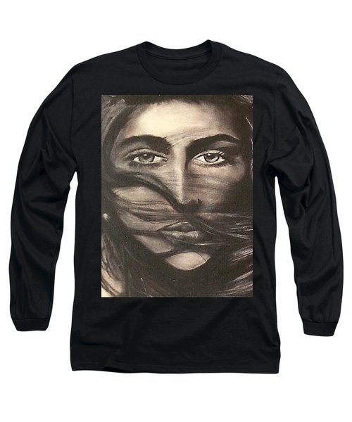 Long Sleeve T-Shirt featuring the drawing Ryan's School Folder by Carrie Maurer