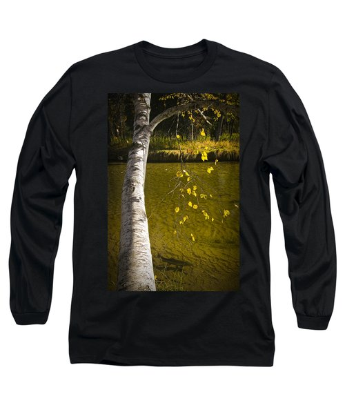 Salmon During The Fall Migration In The Little Manistee River In Michigan No. 0887 Long Sleeve T-Shirt
