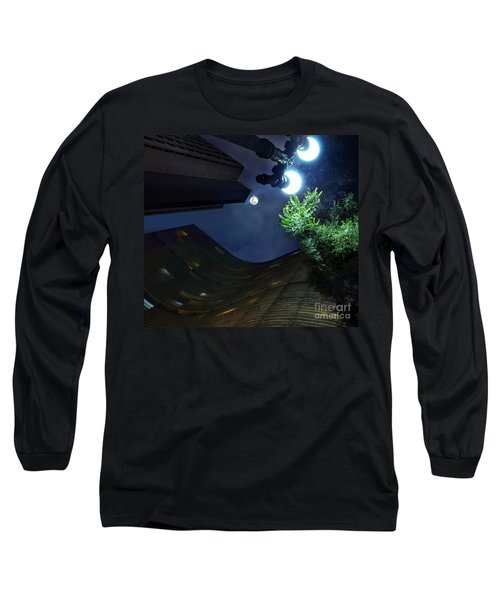 Copan Building And The Moonlight Long Sleeve T-Shirt