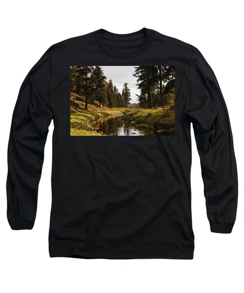 Scenic River, Northumberland, England Long Sleeve T-Shirt
