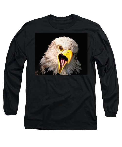 Screaming Eagle II Black Long Sleeve T-Shirt