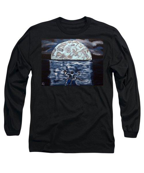 Sea Of Troubles Long Sleeve T-Shirt by Lisa Brandel