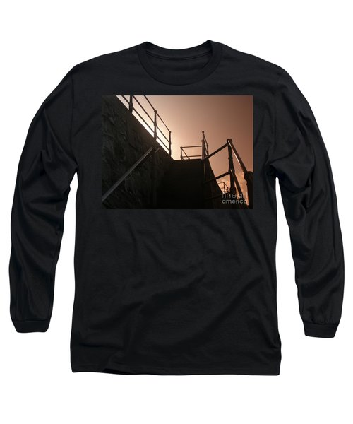 Long Sleeve T-Shirt featuring the photograph Seaside Railings by Terri Waters