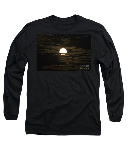 Long Sleeve T-Shirt featuring the photograph Seneca Lake Moon by William Norton