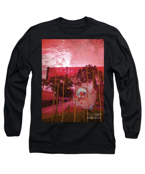 Long Sleeve T-Shirt featuring the photograph Abstract Shattered Glass Red by Andy Prendy